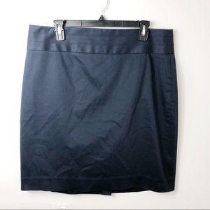 Banana Republic Navy Cotton Pencil Skirt 14